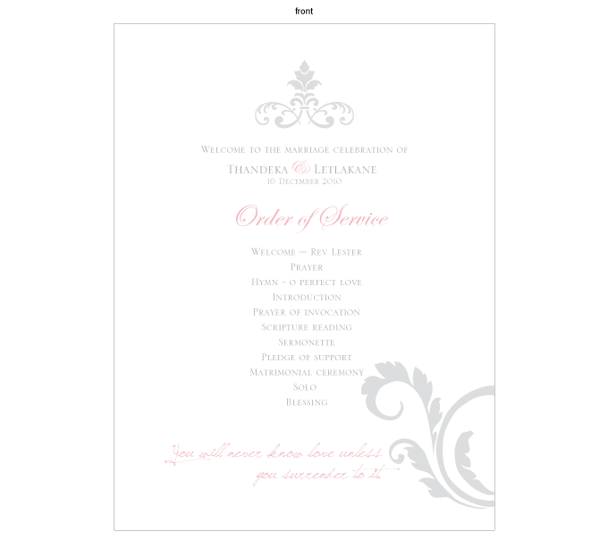 Order of service - Poetic Love: CRD001-005-OOS01-FRONT.png