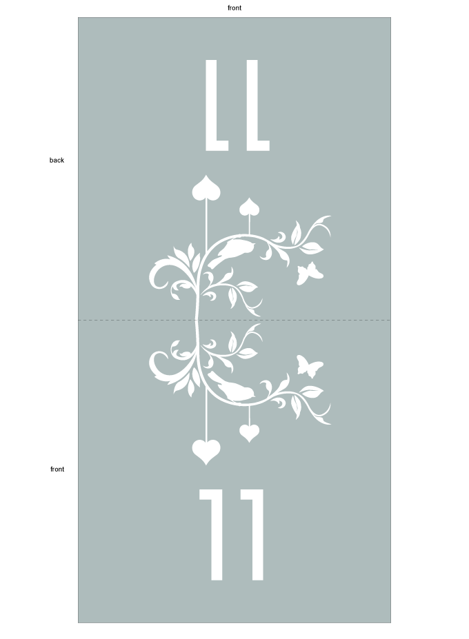 Table number - Floral Scrolls: CRD001-011-TAN01-FRONT-AND-BACK.png