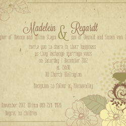 Wedding Invitation: Botanical, designed by Participating studio: Creatus Design