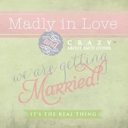 Wedding Invitation: Madly in Love (Dolverlief!), designed by Invitation Gallery (In-House Collection)