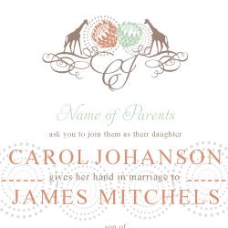 Wedding Invitation: Out of Africa, designed by Invitation Gallery (In-House Collection)