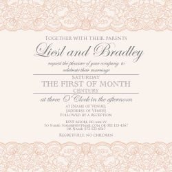 Wedding Invitation: Vanilla and Lace, designed by Invitation Gallery (In-House Collection)