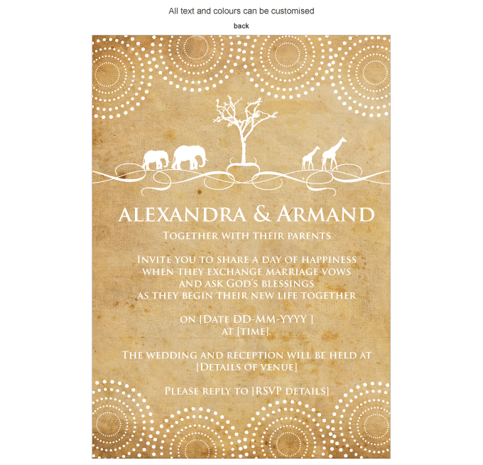 Invitation - African Roots: ING001-007-INV01-back.png