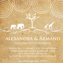 Wedding Invitation: African Roots, designed by Invitation Gallery (In-House Collection)