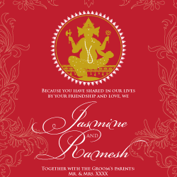 Wedding Invitation: Ganesha, designed by Invitation Gallery (In-House Collection)