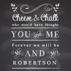 Wedding Invitation: Chalk and Cheese, designed by Invitation Gallery (In-House Collection)