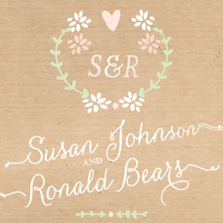 Wedding Invitation: Bon-Bon, designed by Invitation Gallery (In-House Collection)