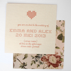 Wedding Invitation: I Love you sew!, designed by Invitation Gallery (In-House Collection)