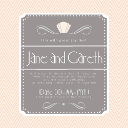 Wedding Invitation: Diamonds & Martinis, designed by Invitation Gallery (In-House Collection)