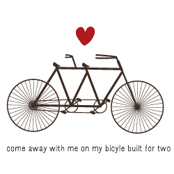 Wedding Invitation: Bicycle for Two, designed by Invitation Gallery (In-House Collection)