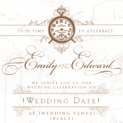 Wedding Invitation: French Affair, designed by Invitation Gallery (In-House Collection)