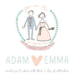 Wedding Invitation: You and Me, designed by Invitation Gallery (In-House Collection)