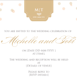 Wedding Invitation: Glamour, designed by Invitation Gallery (In-House Collection)