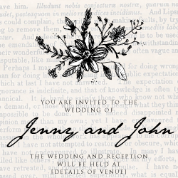 Wedding Invitation: Old world flair, designed by Invitation Gallery (In-House Collection)