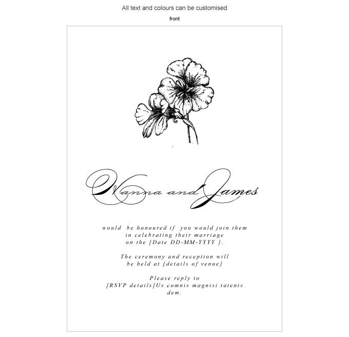 Invitation - Beautiful Botanicals: ING001-033-INV01-FRONT.png