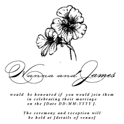 Wedding Invitation: Beautiful Botanicals, designed by Invitation Gallery (In-House Collection)