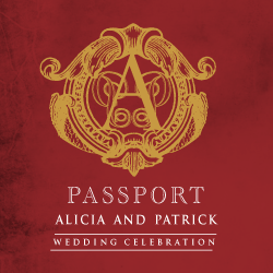 Wedding Invitation: Passport to Love, designed by Invitation Gallery (In-House Collection)