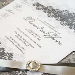 Wedding Invitation: Letters and lace, designed by Invitation Gallery (In-House Collection)