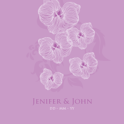 Wedding Invitation: Orchid, designed by Invitation Gallery (In-House Collection)