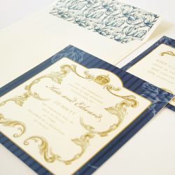 Wedding Invitation: Royal Wreath, designed by Invitation Gallery (In-House Collection)
