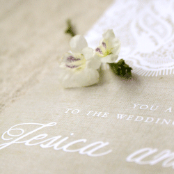 Wedding Invitation: Rustic Lace, designed by Invitation Gallery (In-House Collection)