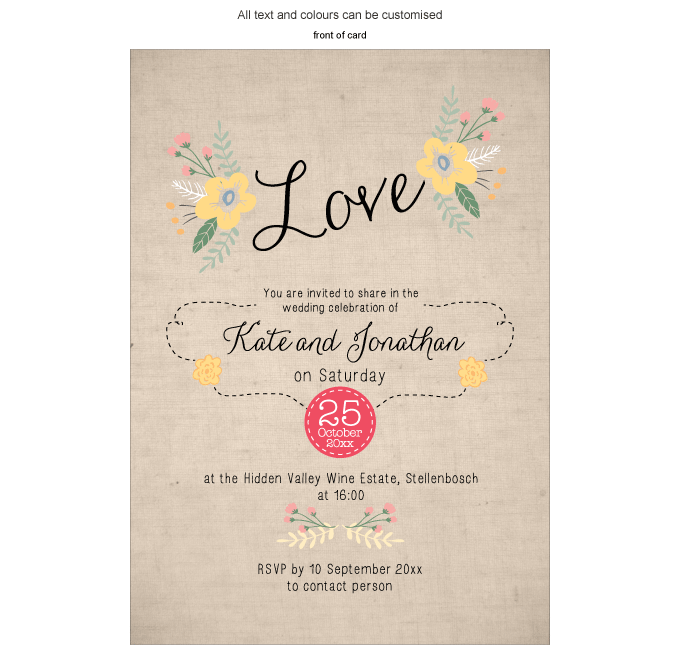 Invitation - Happy Days: ING001-062-INV01-Front.png