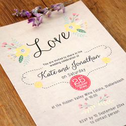 Wedding Invitation: Happy Days, designed by Invitation Gallery (In-House Collection)