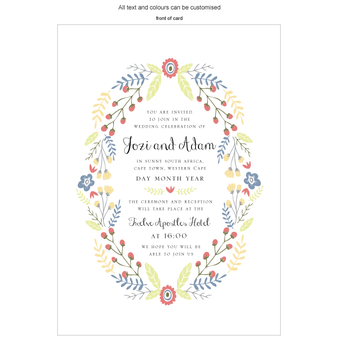 Invitation - Flowers & Twigs: ING001-064-INV01-FRONT.png