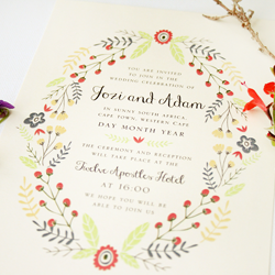Wedding Invitation: Flowers & Twigs, designed by Invitation Gallery (In-House Collection)