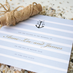 Wedding Invitation: Nautical, designed by Invitation Gallery (In-House Collection)