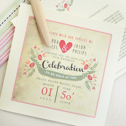 Wedding Invitation: Vintage Spring, designed by Invitation Gallery (In-House Collection)