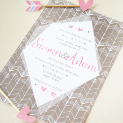 Wedding Invitation: Zig Zag Love, designed by Invitation Gallery (In-House Collection)