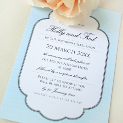 Wedding Invitation: Breakfast at Tiffany's, designed by Invitation Gallery (In-House Collection)