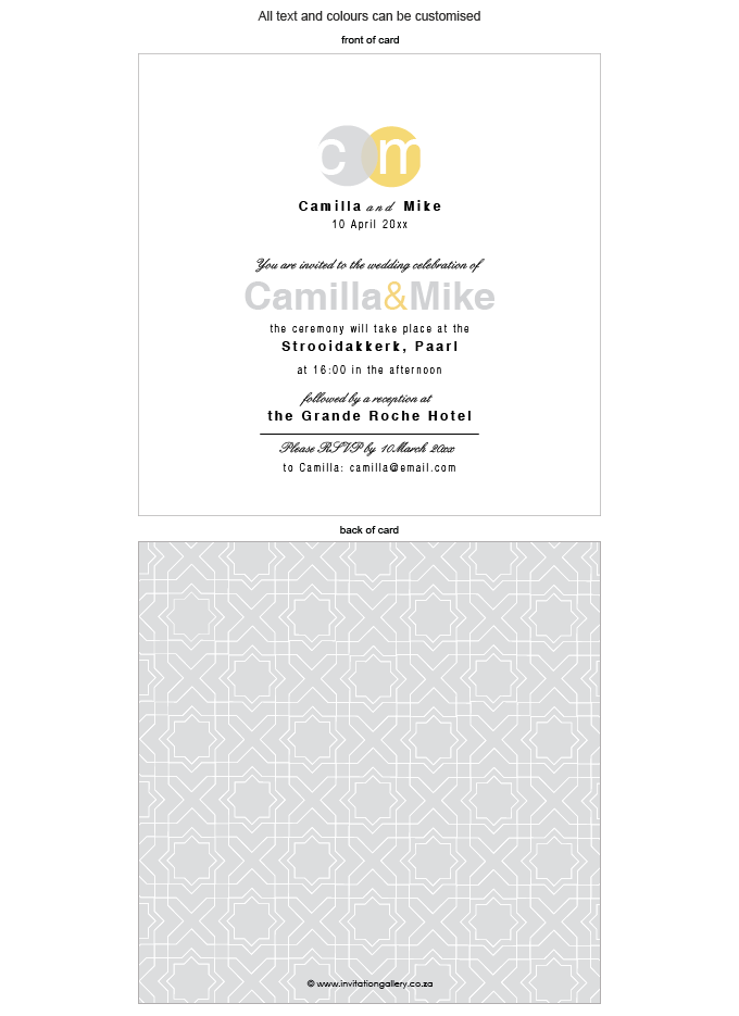 Invitation - Silver Sunshine: Invitation-gallery-ING001-076-INV01-FRONT-AND-BACK.png