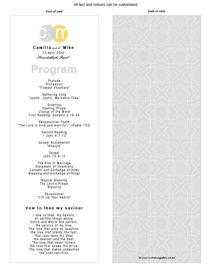 Program for the day - Silver Sunshine: Invitation-gallery-ING001-076-PRO01.png