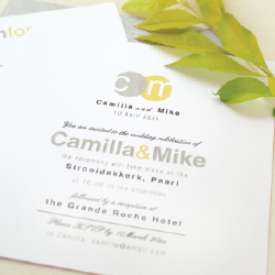 Wedding Invitation: Silver Sunshine, designed by Invitation Gallery (In-House Collection)