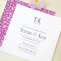 Wedding Invitation: Audrey, designed by Invitation Gallery (In-House Collection)