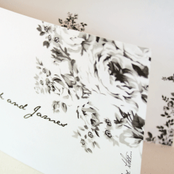 Wedding Invitation: I Love Thee, designed by Invitation Gallery (In-House Collection)