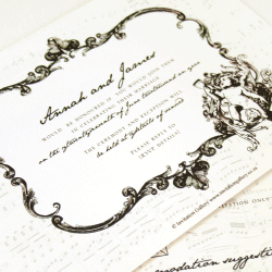Wedding Invitation: Imortal beloved, designed by Invitation Gallery (In-House Collection)