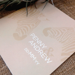 Wedding Invitation: On Safari, designed by Invitation Gallery (In-House Collection)