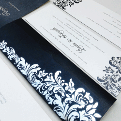 Wedding Invitation: Onyx, designed by Invitation Gallery (In-House Collection)
