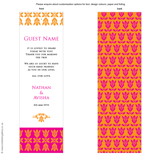 Name card - Tangerine: Invitation-gallery-wedding-stationery-eastern-india-foil-name-place.png