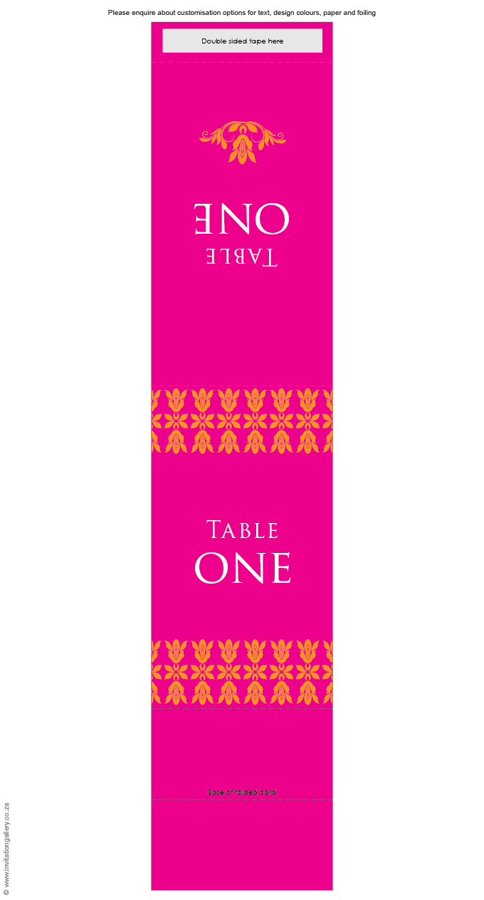 Table number - Tangerine: Invitation-gallery-wedding-stationery-eastern-india-foil-table-number.png