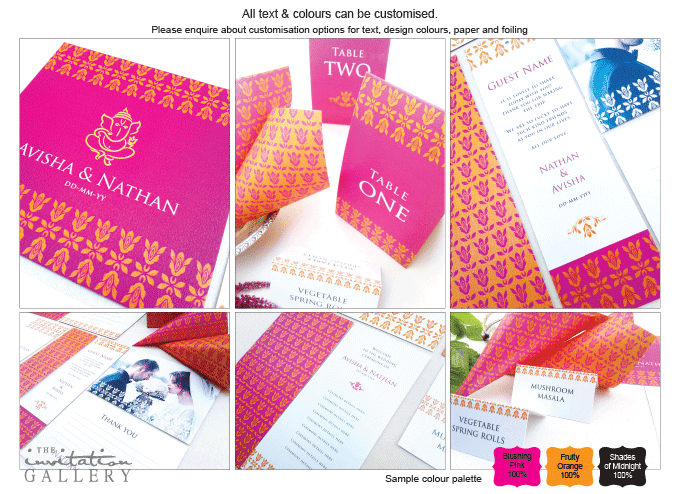 Invitation - Tangerine: Invitation-gallery-wedding-stationery-eastern-india-set.png