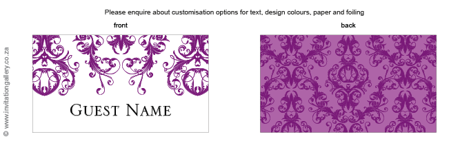 Name card - Patchouli: Invitation-gallery-wedding-invitation-foil-eastern-damask-name-card.png