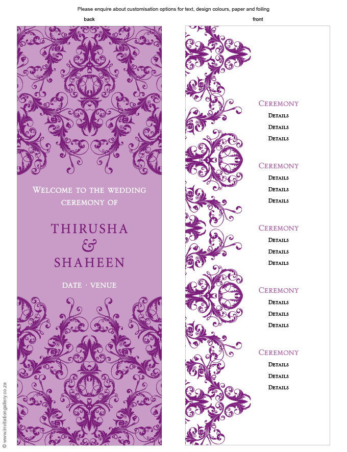 Program for the day - Patchouli: Invitation-gallery-wedding-invitation-foil-eastern-damask-programme.png