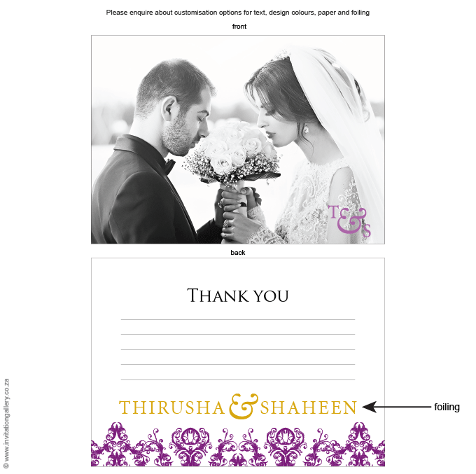 Thank you - Patchouli: Invitation-gallery-wedding-invitation-foil-eastern-damask-thank-you.png