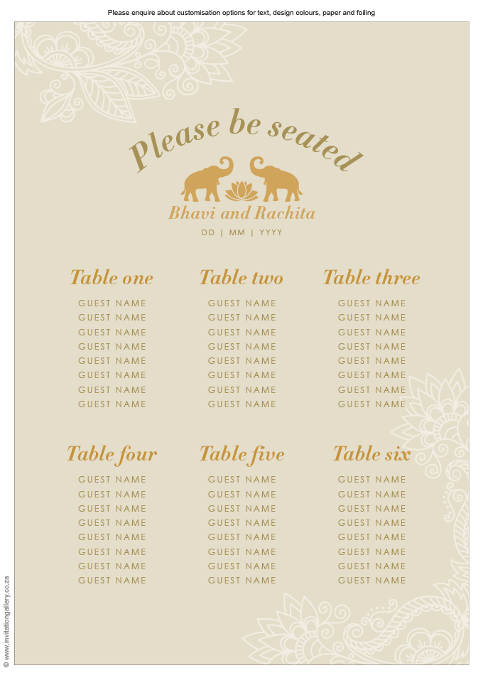 Seating plan - Padma: invitation-gallery-wedding-stationery-lotus-elephant-foil-seating-plan.png
