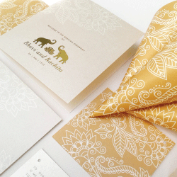 Wedding Invitation: Padma, designed by Invitation Gallery (In-House Collection)
