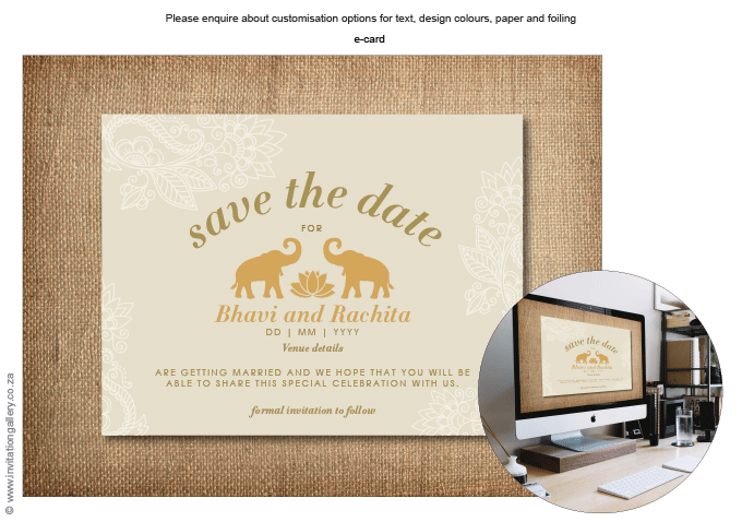 Save the Date - HTML for email - Padma: invitation-gallery-wedding-stationery-lotus-elephant-save-the-date.png